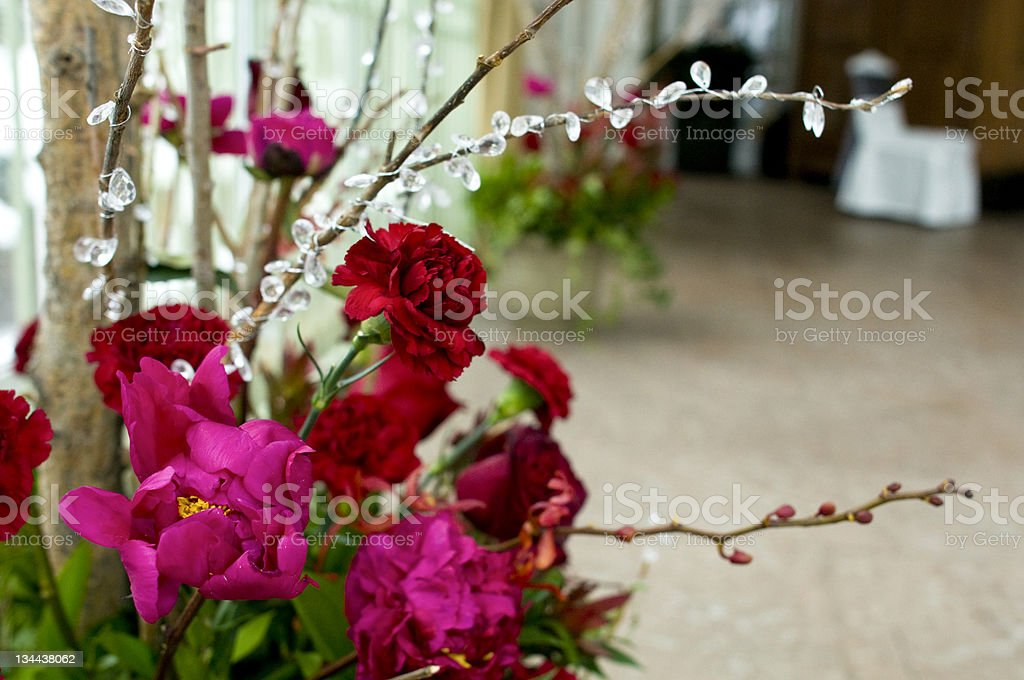 Fresh Flowers at the Wedding royalty-free stock photo