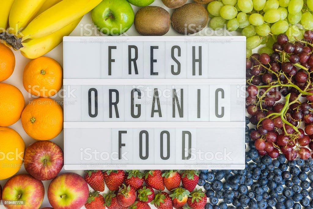 Fresh food and its health benefits stock photo