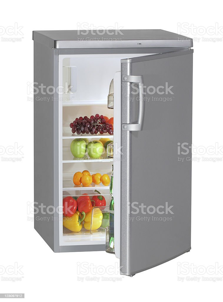 Fresh food in the refrigerator. royalty-free stock photo