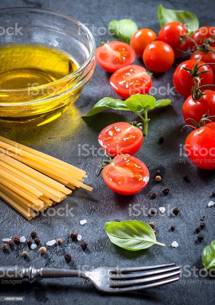 Fresh food ingredients stock photo