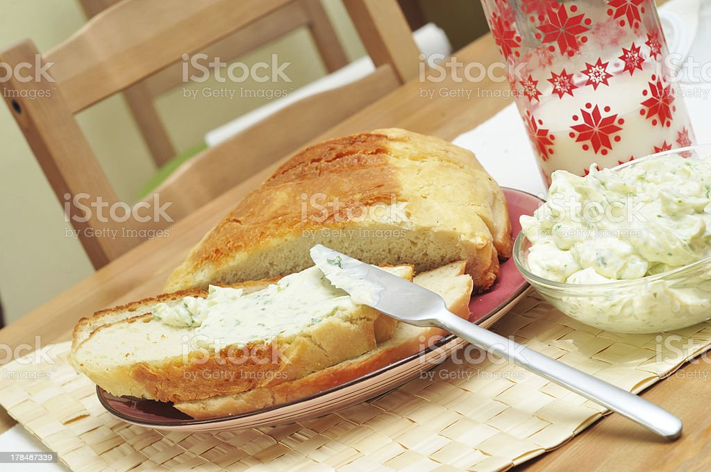 fresh food on the plate royalty-free stock photo