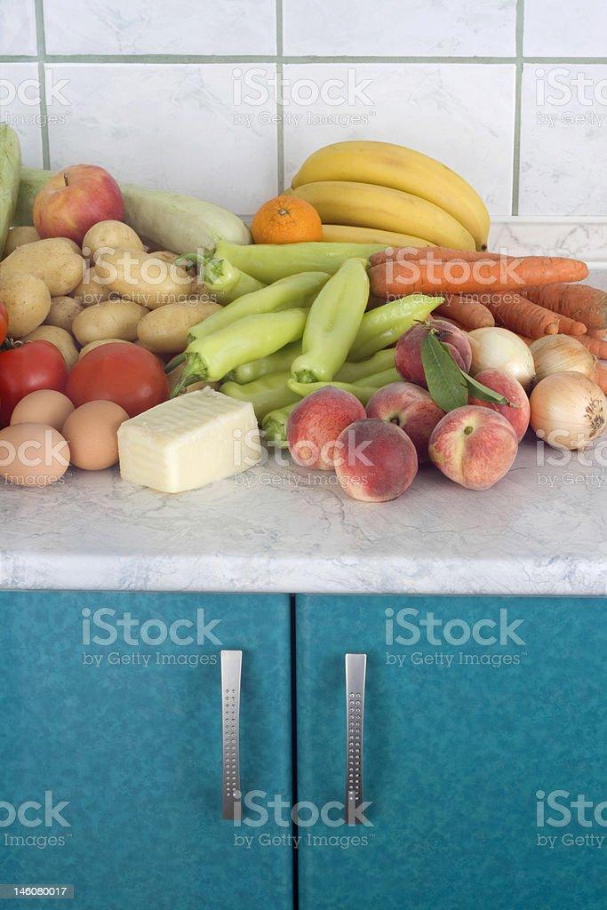 Fresh foodstuffs royalty-free stock photo
