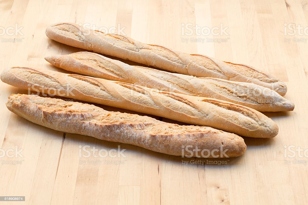 Fresh French Baguettes stock photo