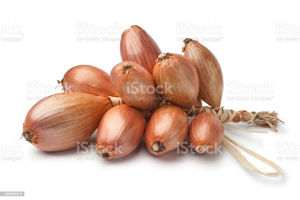 Fresh french shallots stock photo