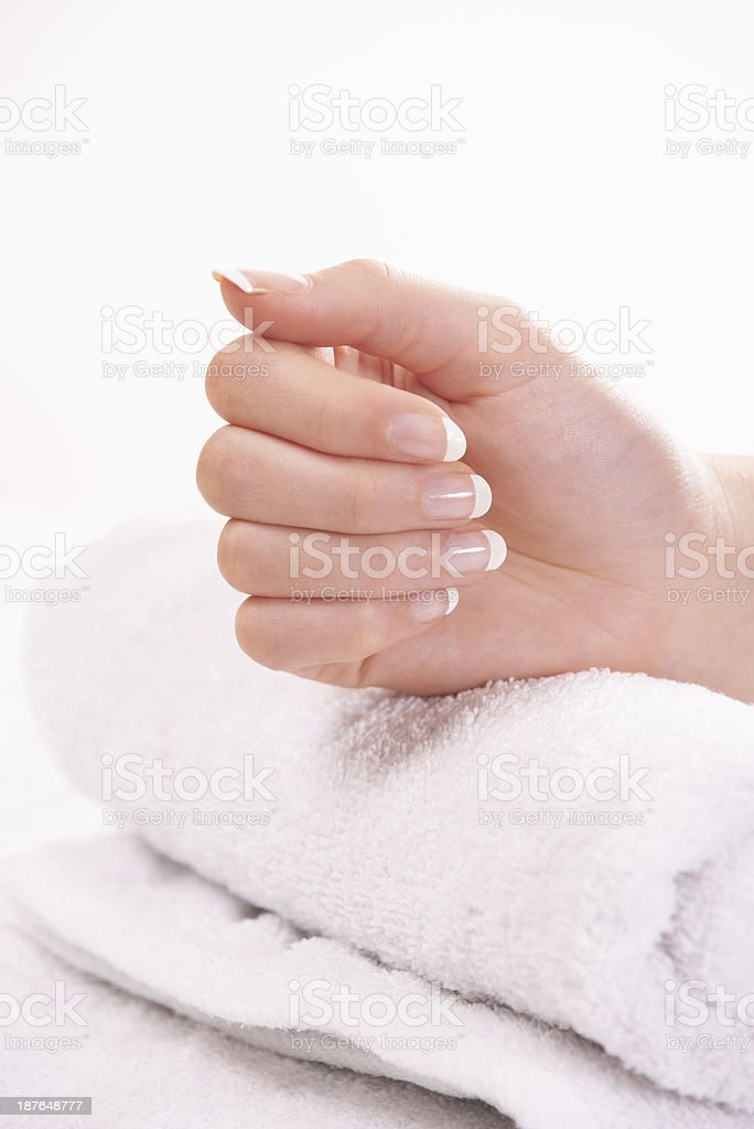 Fresh from a manicure royalty-free stock photo