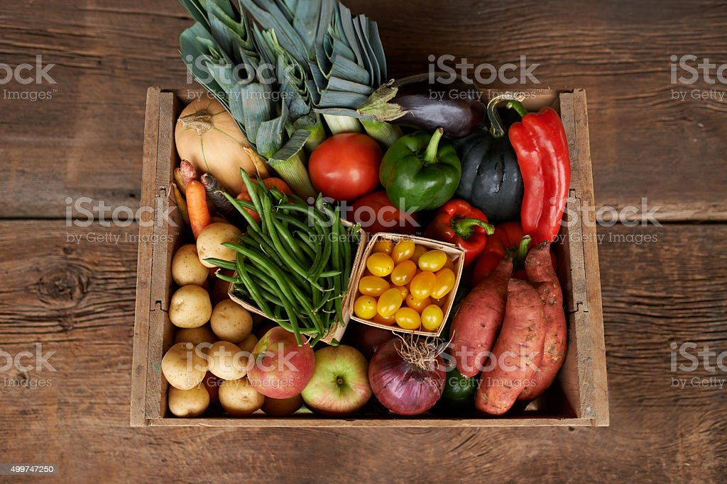 Fresh from the garden, every foodie's dream stock photo