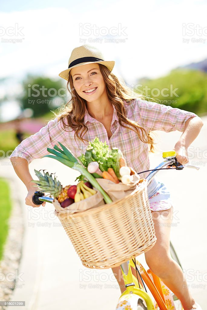 Fresh from the grocer stock photo