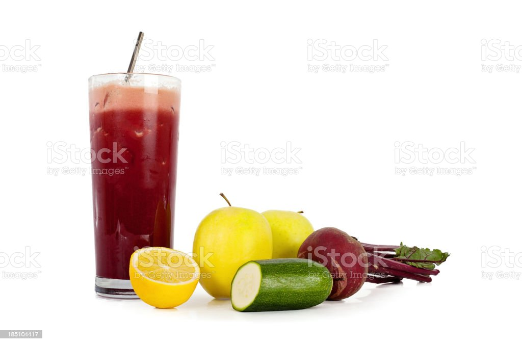 Fresh Fruit and Vegetable Juice royalty-free stock photo