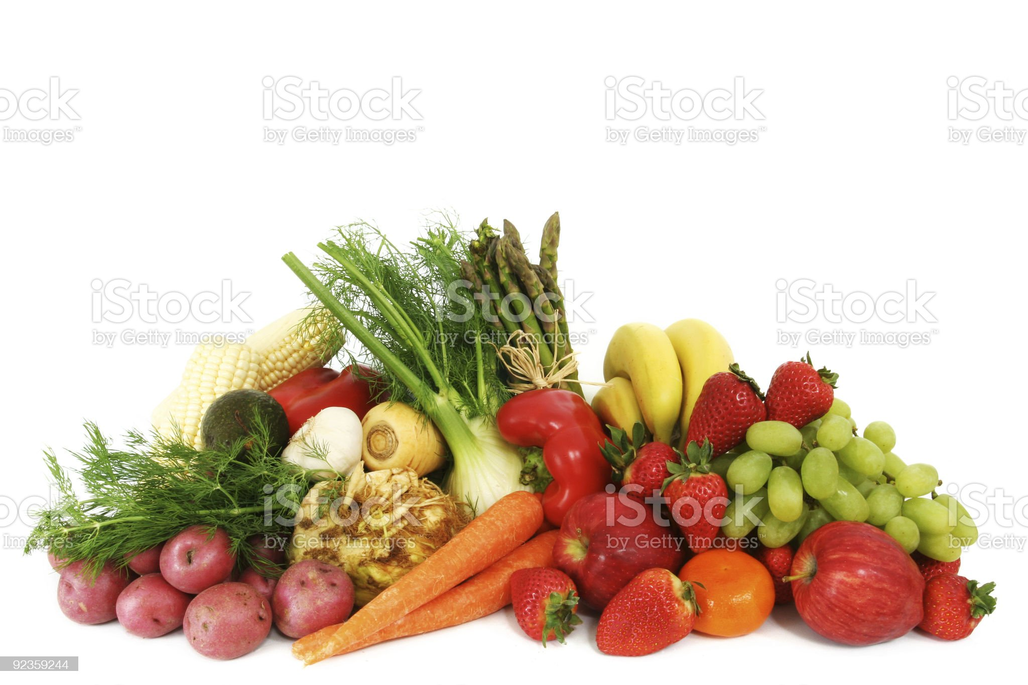 Fresh fruit and vegetables royalty-free stock photo