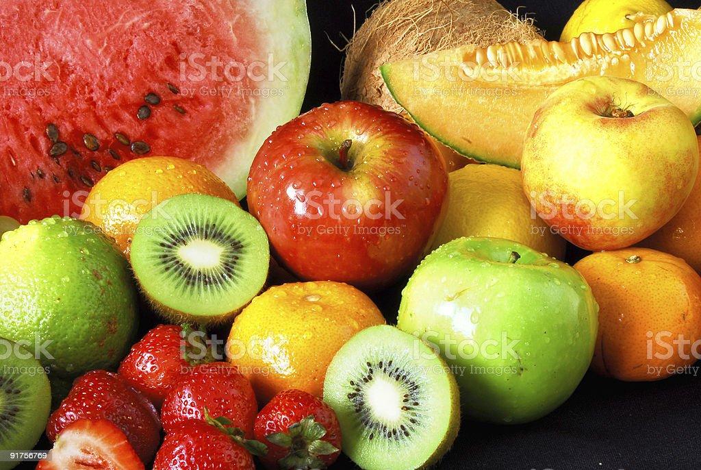 Fresh fruit assortment royalty-free stock photo