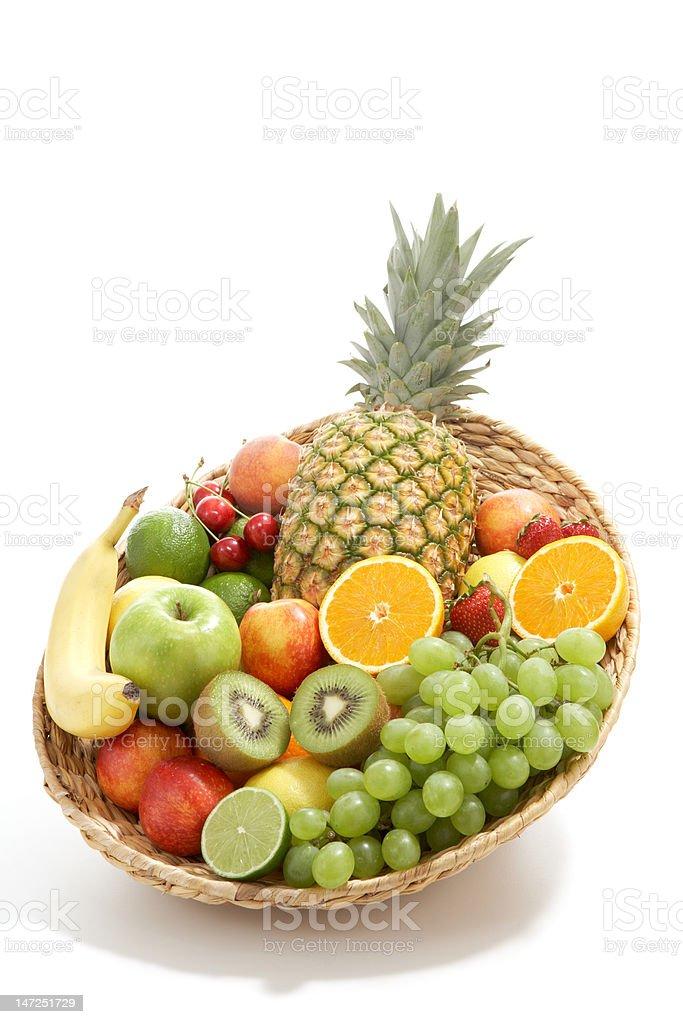 Fresh fruit basket royalty-free stock photo