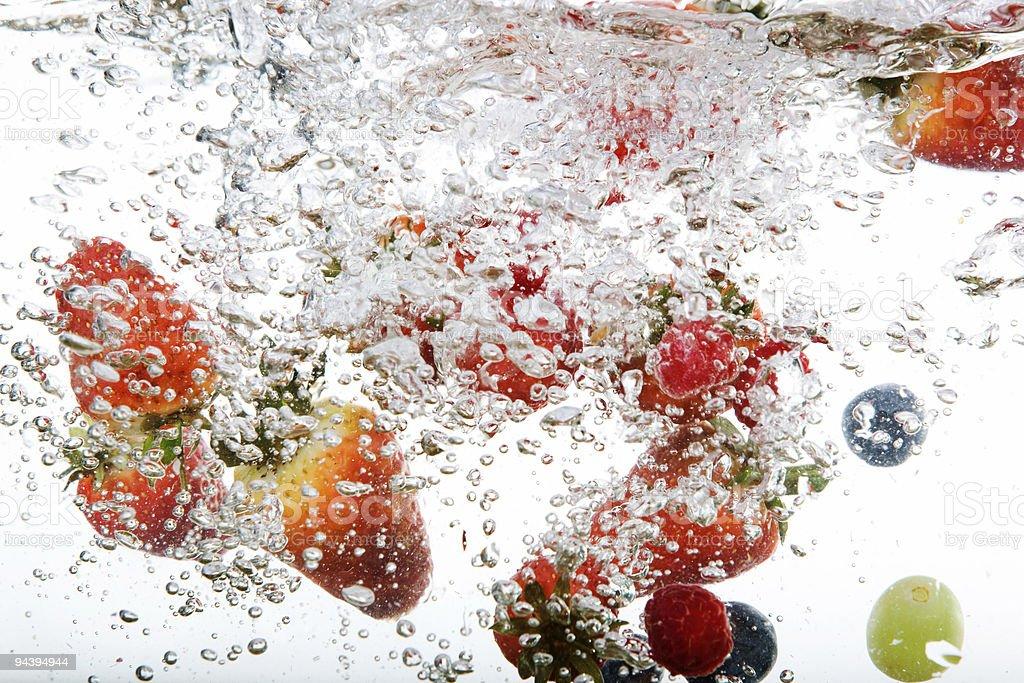Fresh Fruit in Water stock photo