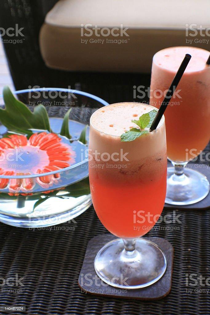 Fresh fruit juice royalty-free stock photo
