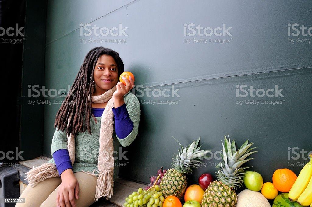 Fresh Fruit, Just Delivered stock photo