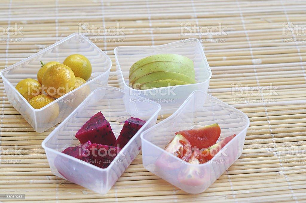 Fresh Fruit on The Box stock photo