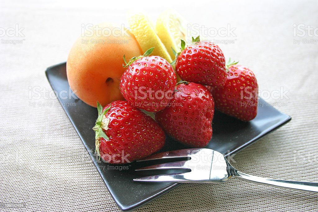 Fresh Fruit Platter royalty-free stock photo