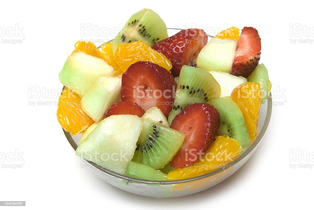 Fresh Fruit Salad in the bowl royalty-free stock photo