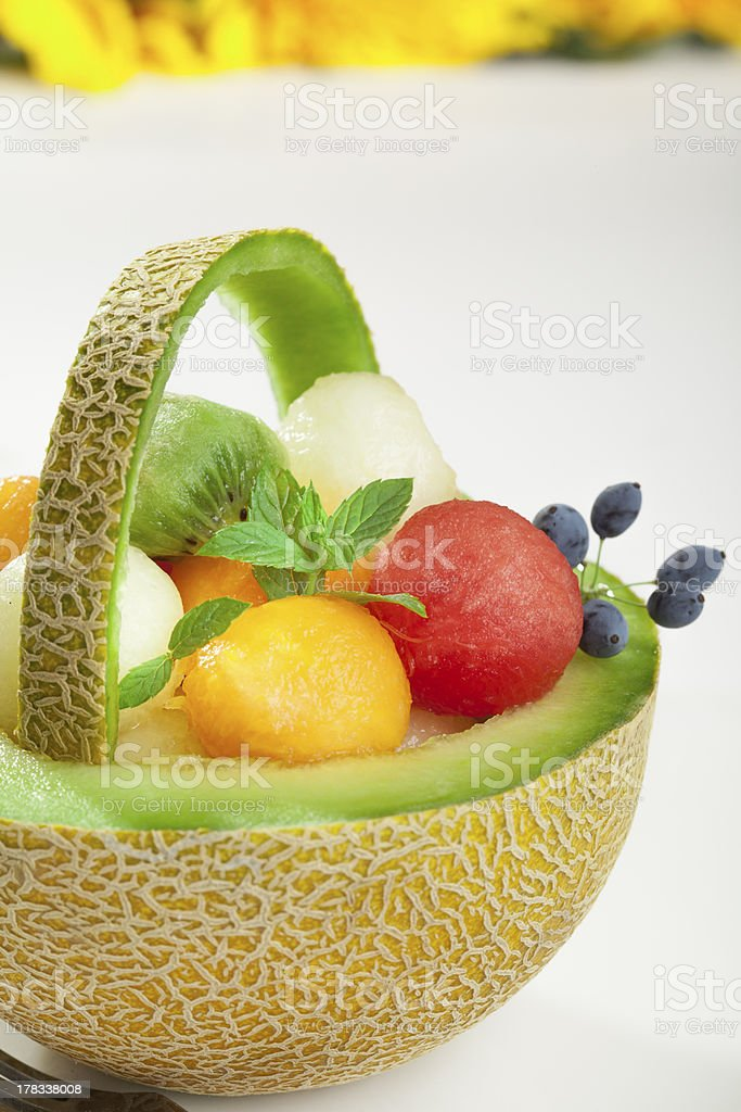 fresh fruit salad royalty-free stock photo