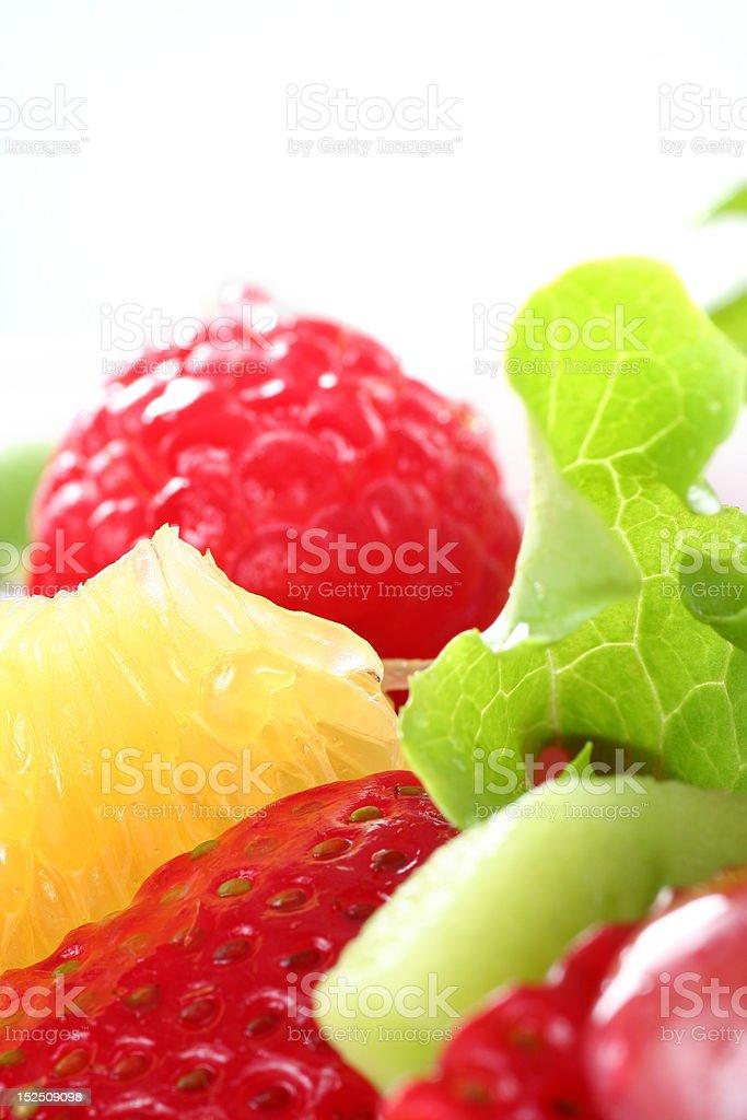 fresh fruit salas royalty-free stock photo