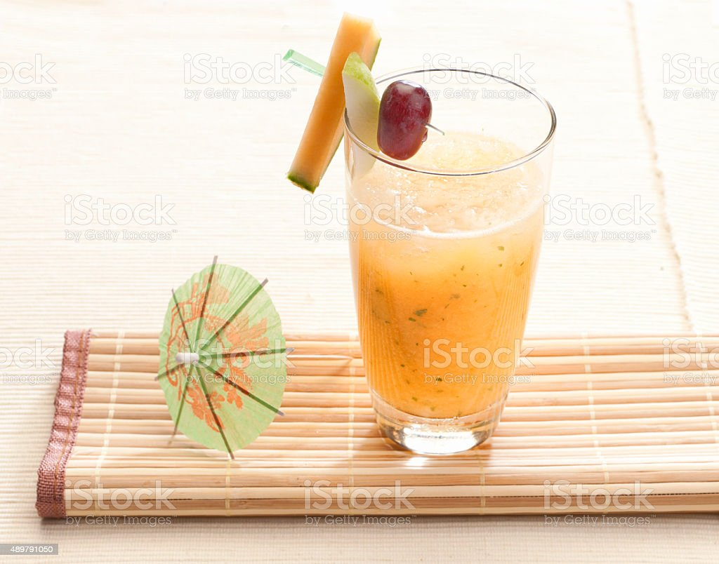 Fresh fruit smoothie stock photo