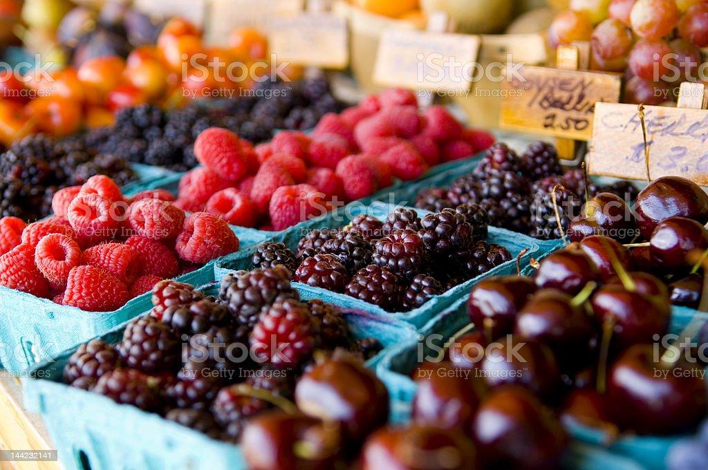 Fresh Fruit Stand stock photo