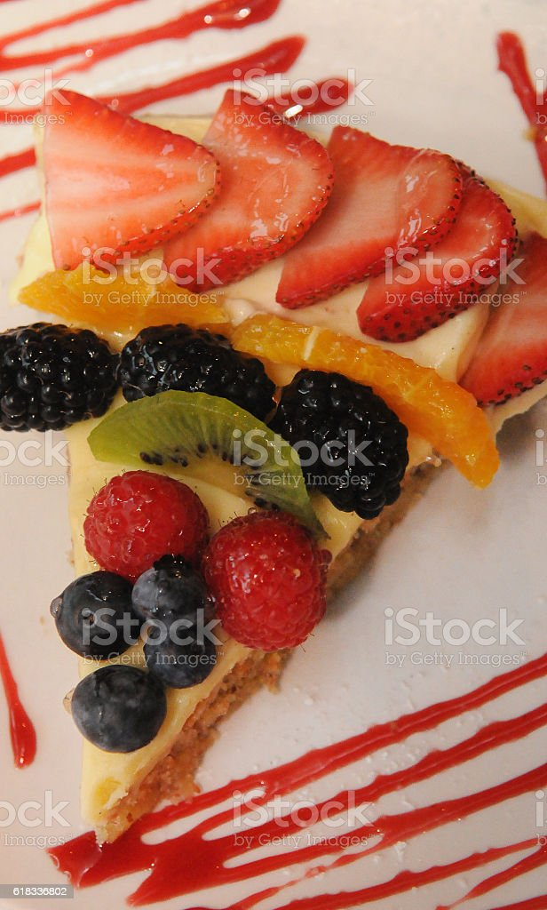 Fresh Fruit Tart Above stock photo