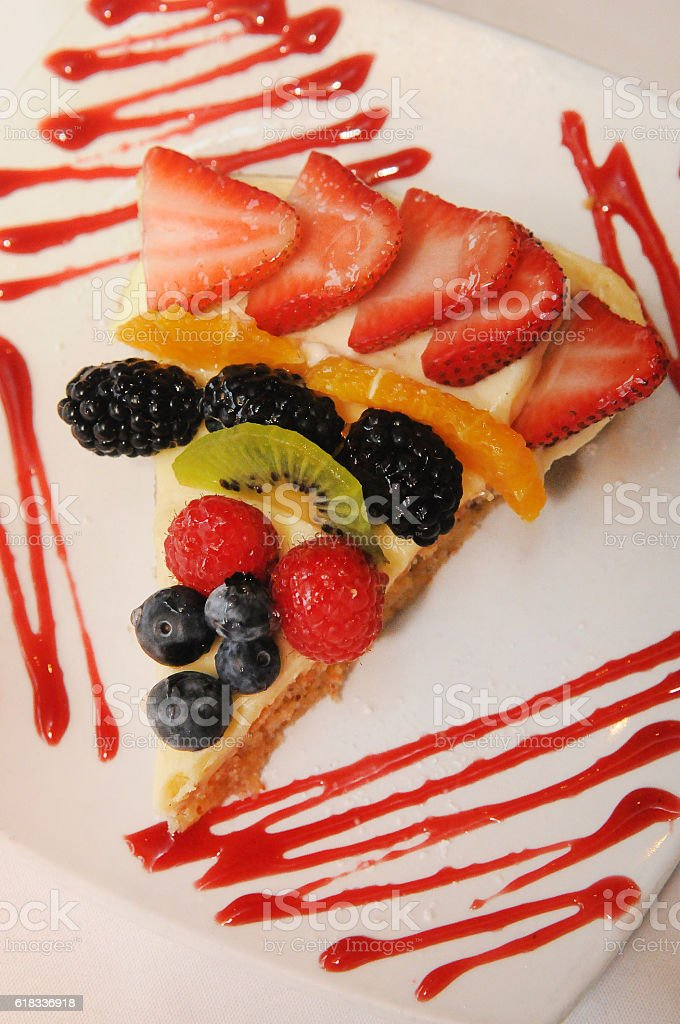 Fresh Fruit Tart Awaits stock photo