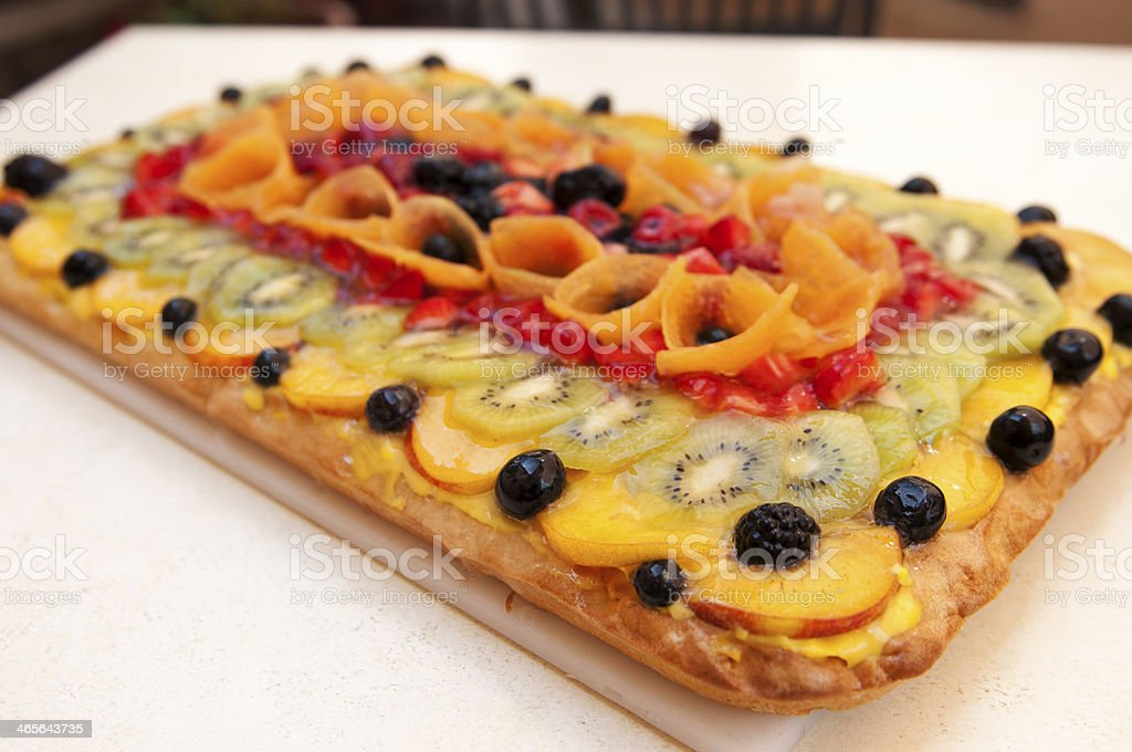 Fresh fruit tart royalty-free stock photo