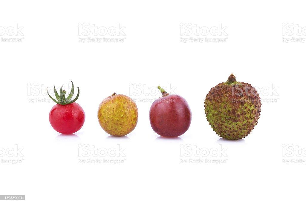 fresh fruit variety isolate on white background stock photo
