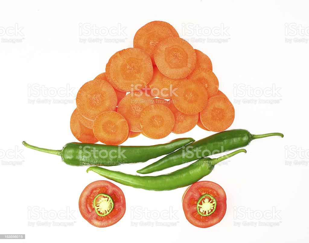 Fresh fruits and vegetables royalty-free stock photo