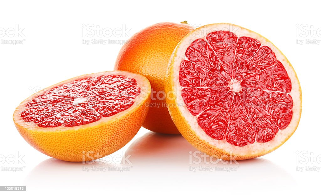 fresh fruits grapefruit in cut royalty-free stock photo