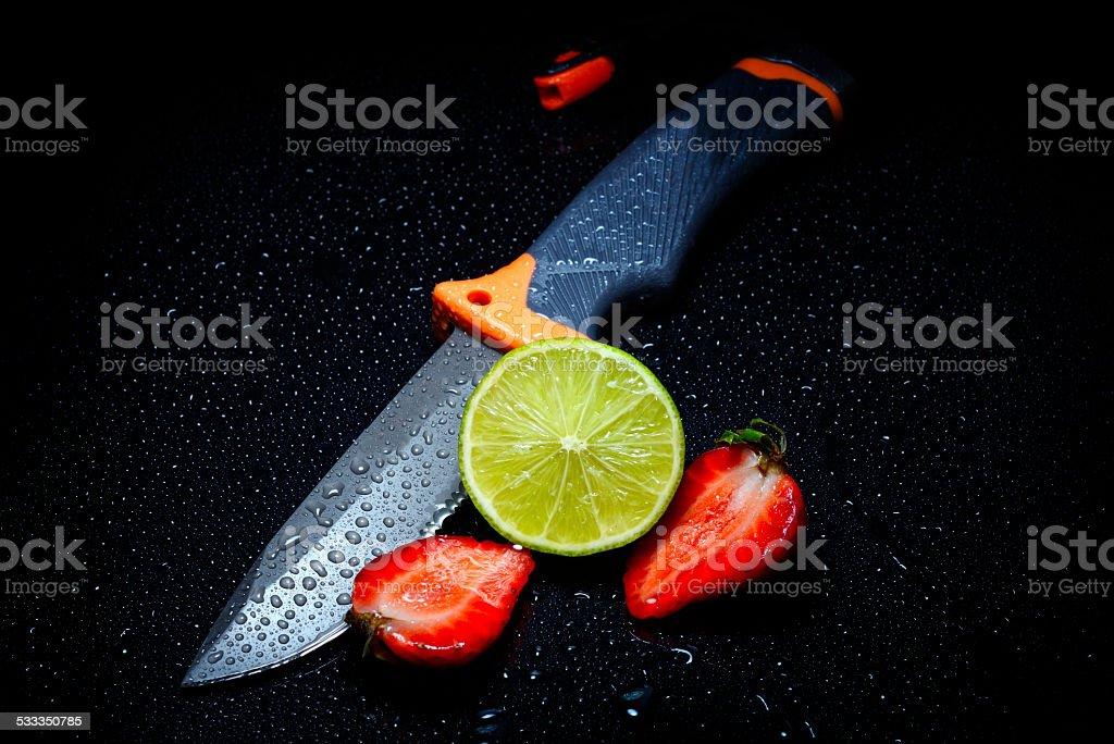 fresh fruits in studio stock photo