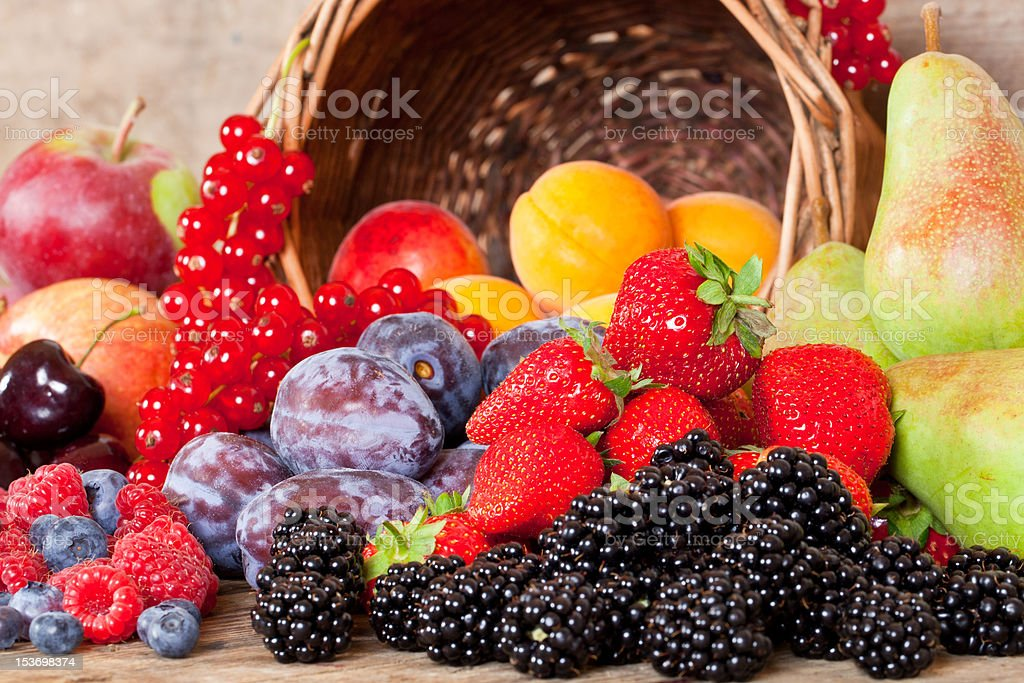 Fresh Fruits in Summer stock photo