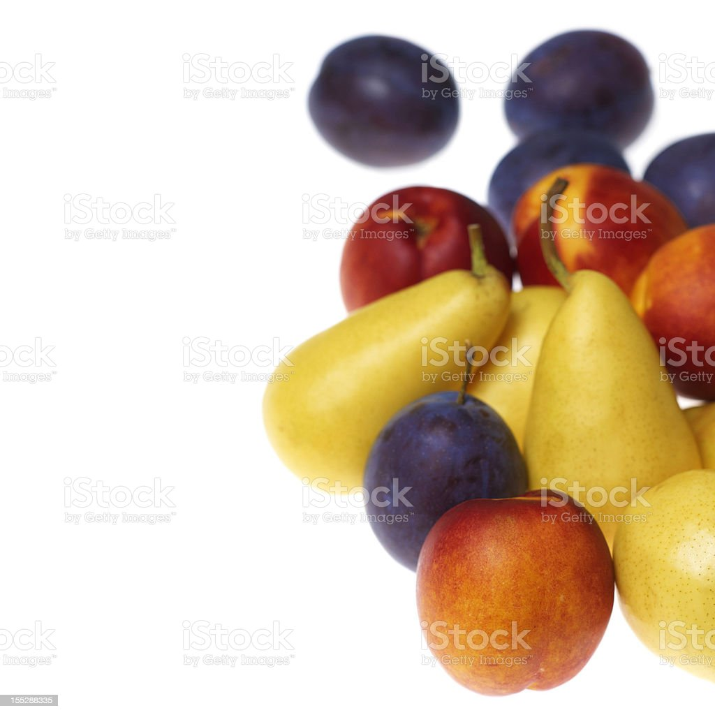 Fresh fruits isolated on white background royalty-free stock photo