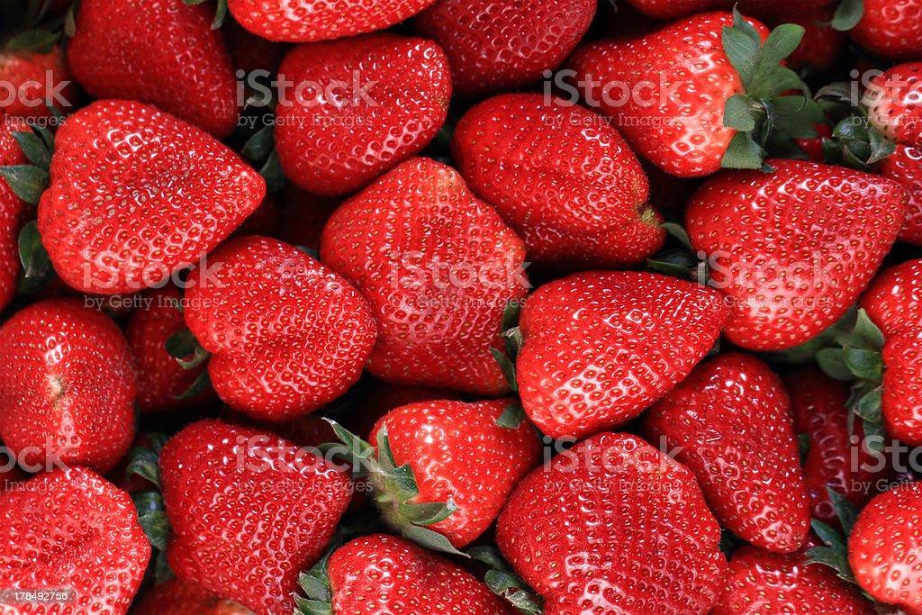 fresh fruits - juicy strawberries royalty-free stock photo