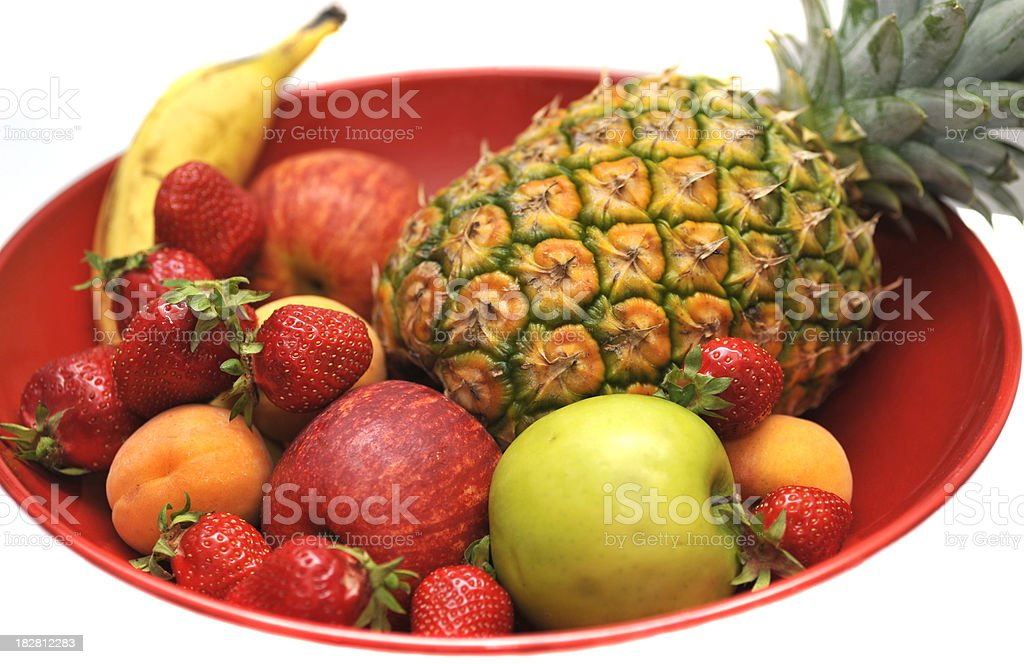 fresh fruits on plate royalty-free stock photo