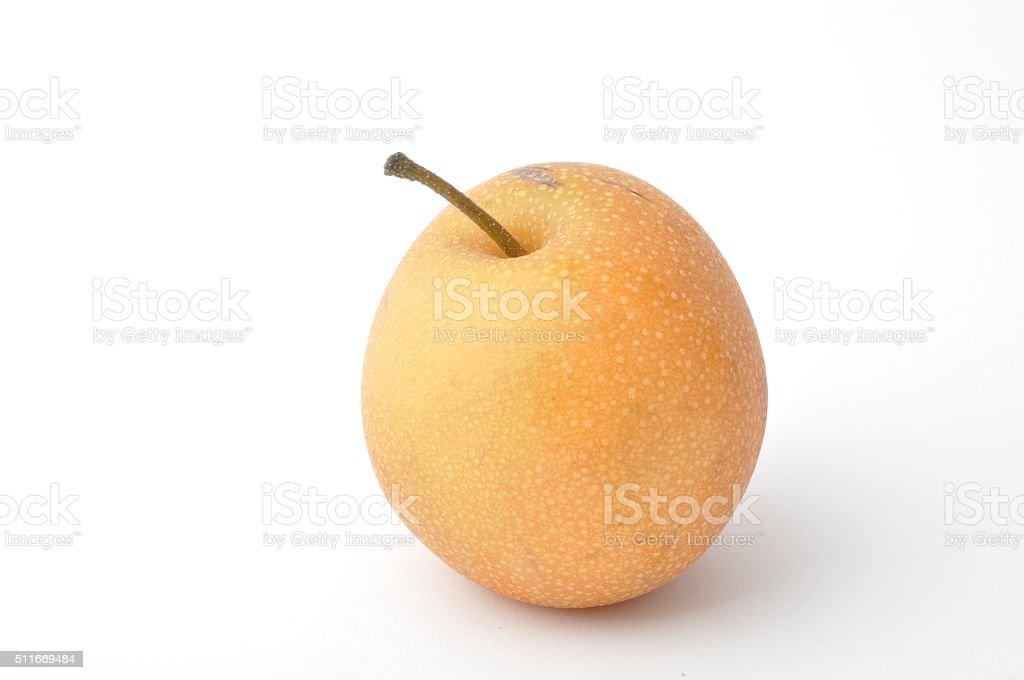 Fresh fruits on white background stock photo