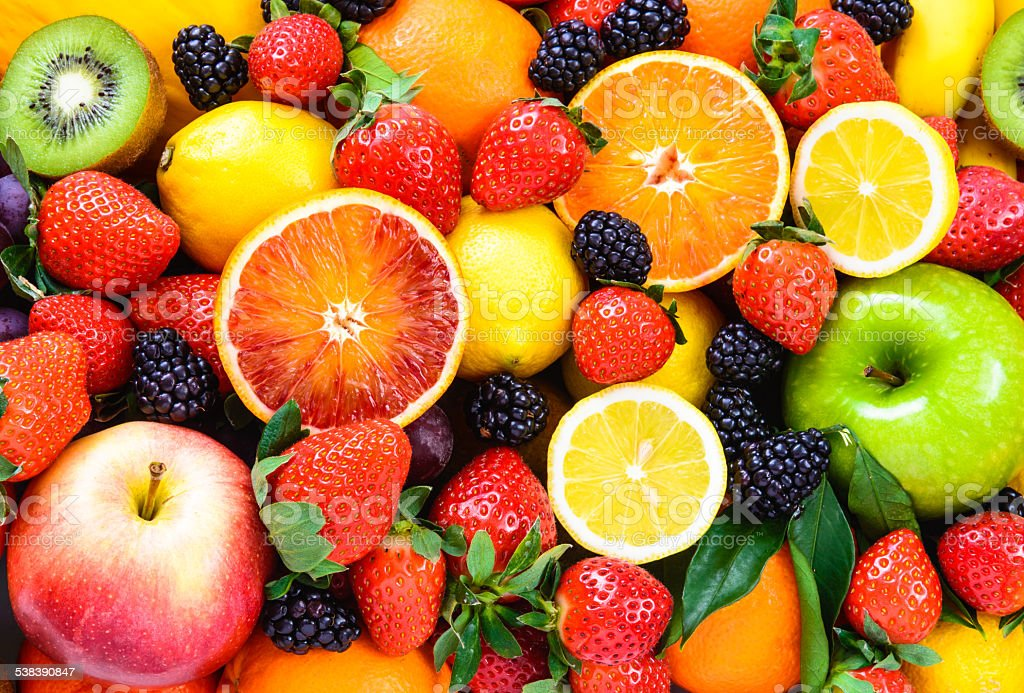 Fresh fruits. stock photo