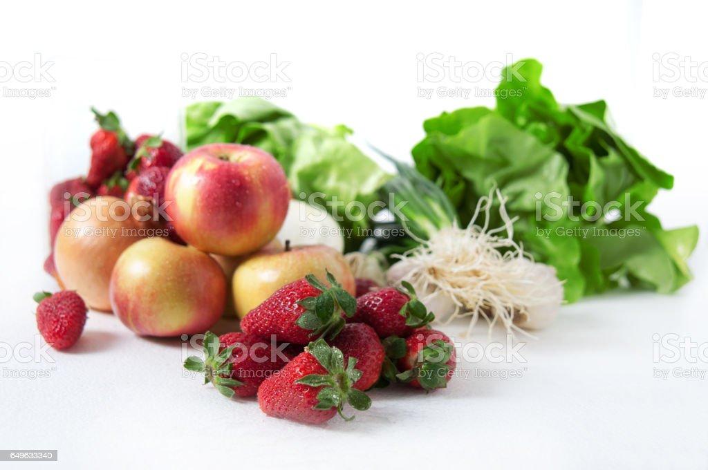 Fresh fruits stock photo