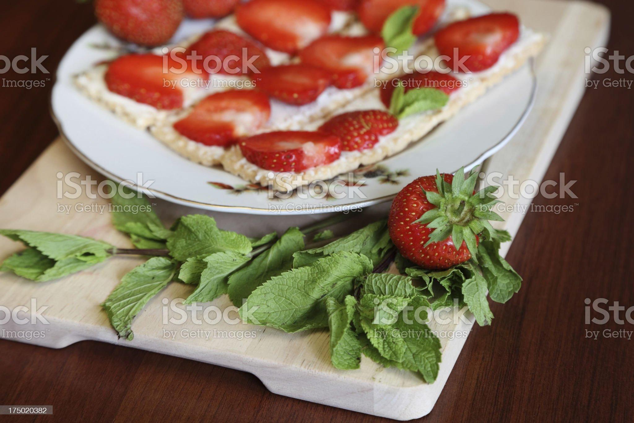 Fresh fruits with Mascarpone royalty-free stock photo