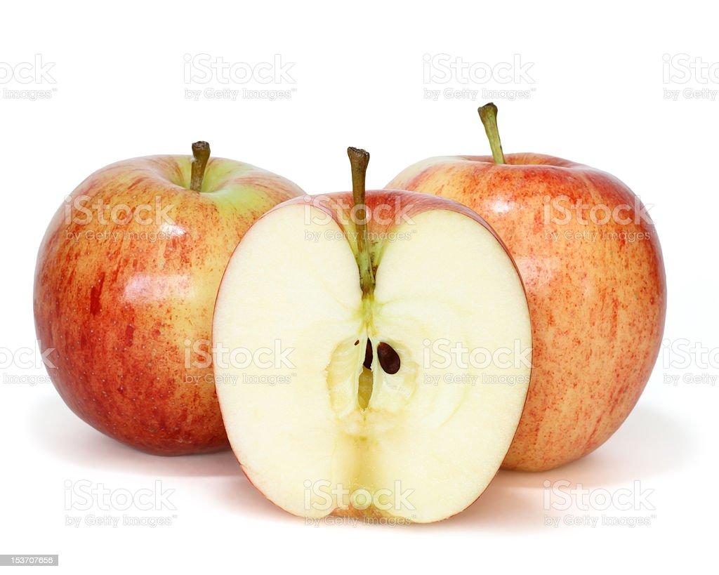 fresh gala apples stock photo