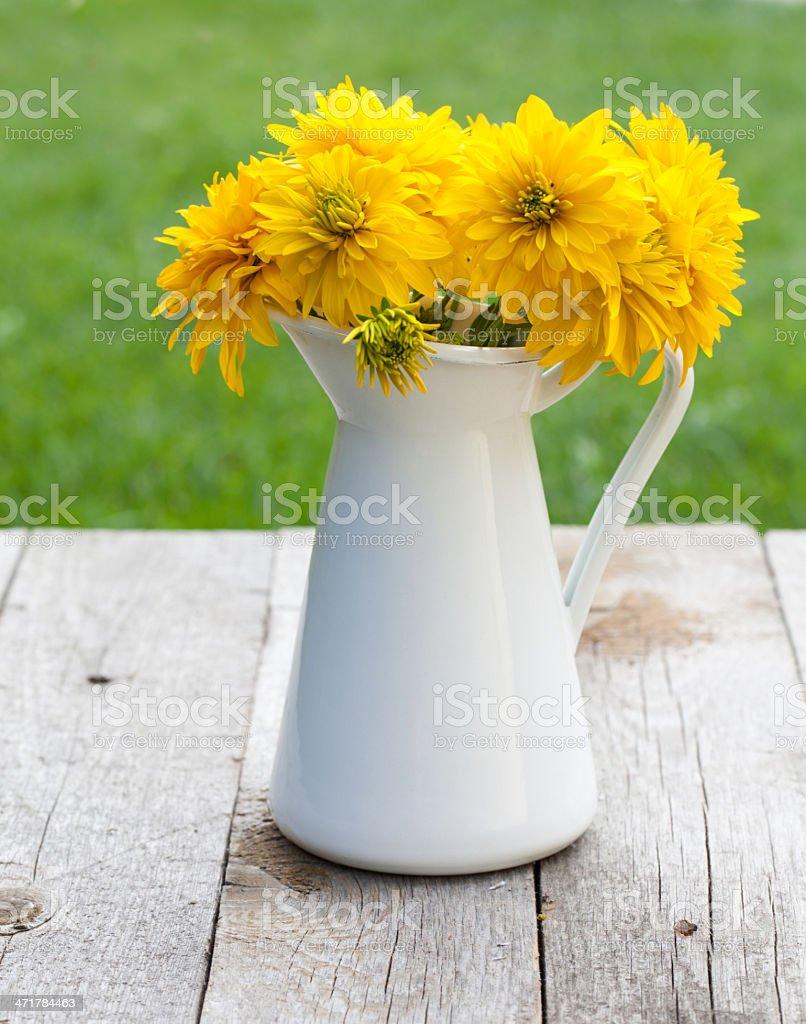 Fresh garden flower bouquet royalty-free stock photo