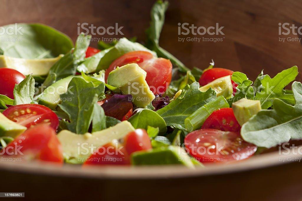 Fresh Garden Salad with Avocado stock photo