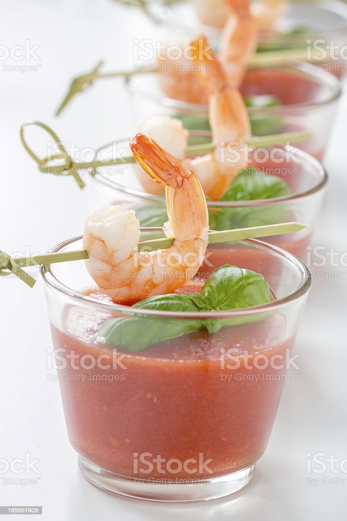 fresh gazpacho royalty-free stock photo