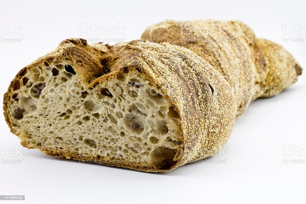 Fresh german bread on light background royalty-free stock photo