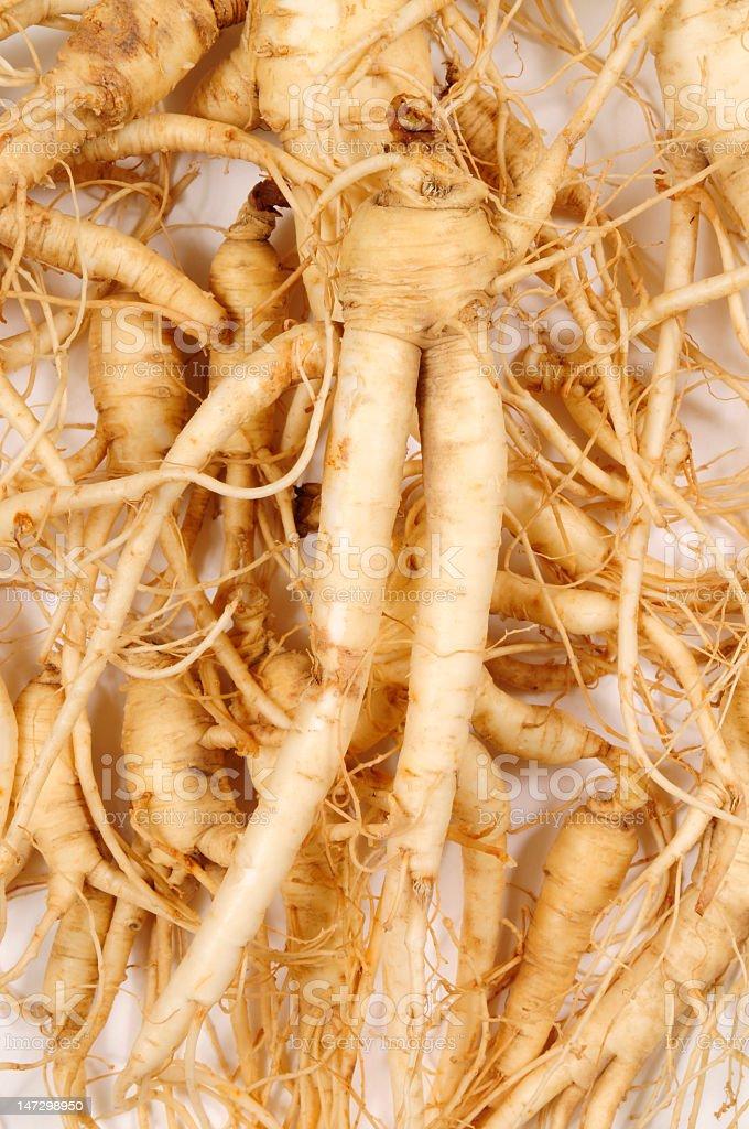 Fresh Ginseng Man Roots royalty-free stock photo
