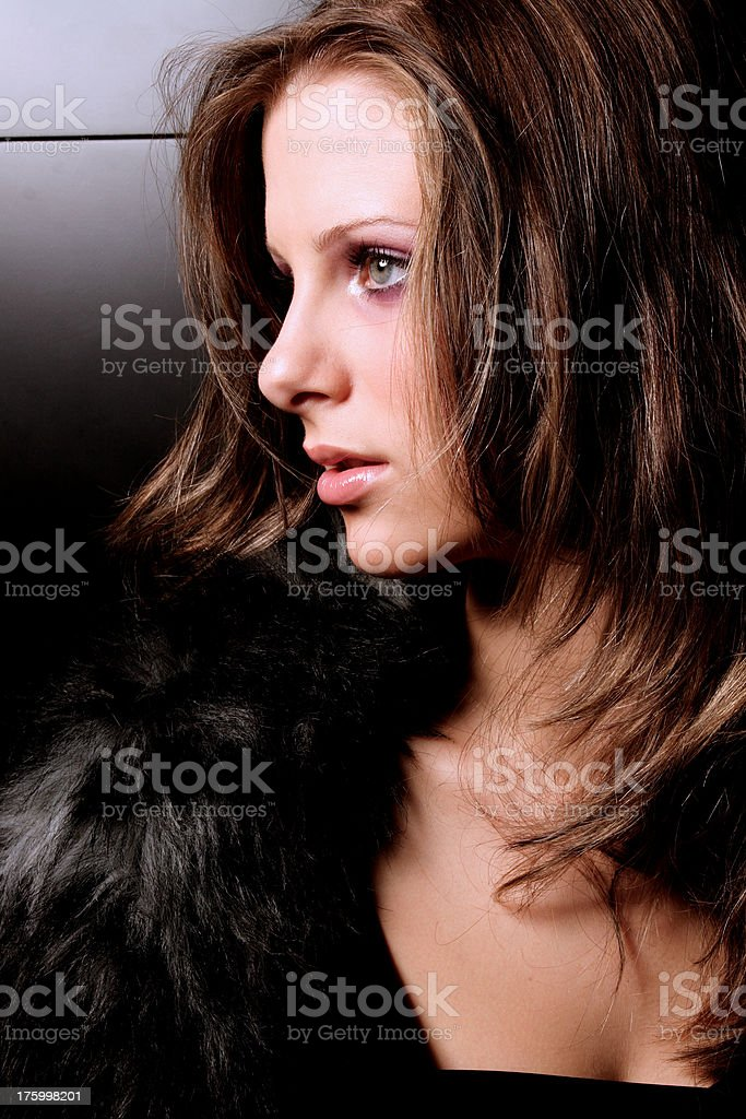 fresh girl with black background royalty-free stock photo