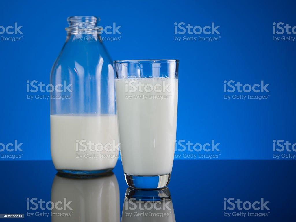 Fresh Glass Cold Milk stock photo