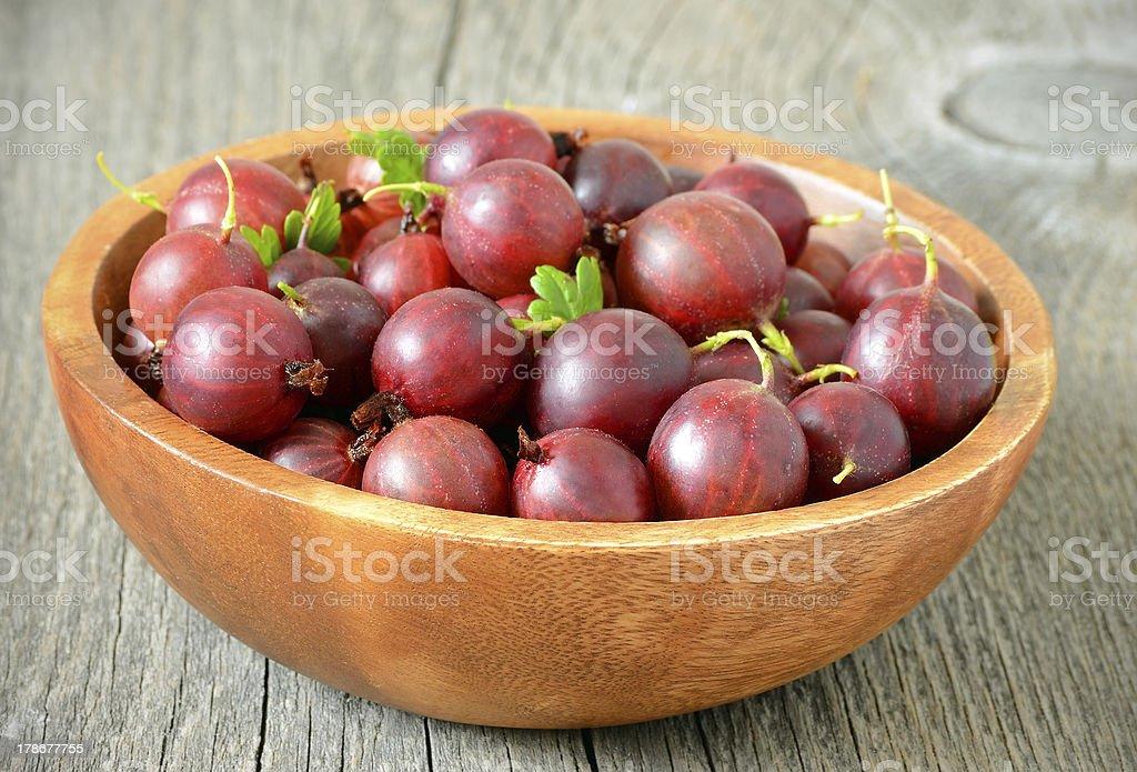 Fresh gooseberries royalty-free stock photo
