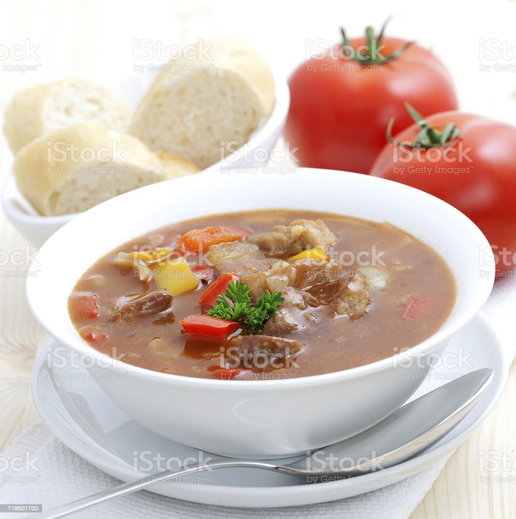 fresh goulash with paprika royalty-free stock photo